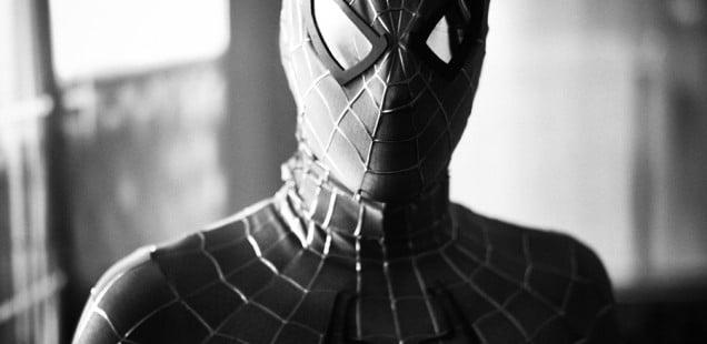 Man in Spiderman costume