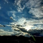 A cloudy blue sky: a metaphor for the mind